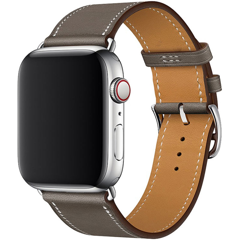 Leather Strap Apple Watch 42/44mm Gray