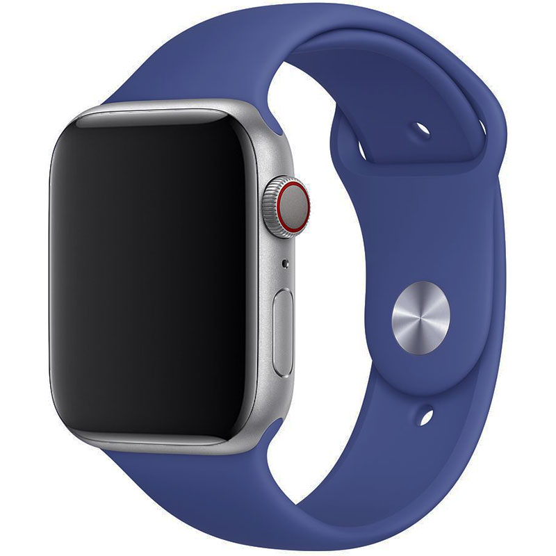 Silicone Szíj Apple Watch 42/44mm Linen Blue Large