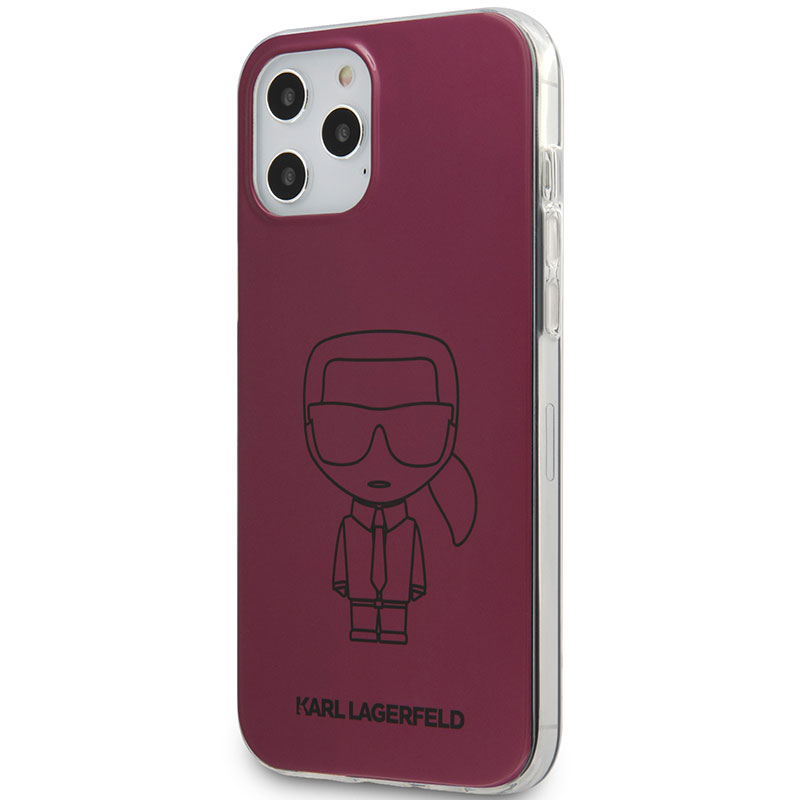 Karl Lagerfeld Iconic TPU Outline Metallic Pink iPhone 12/12 Pro Tok