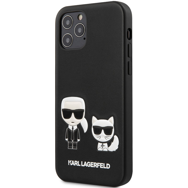 Karl Lagerfeld PU Karl and Choupette Black iPhone 12/12 Pro Tok