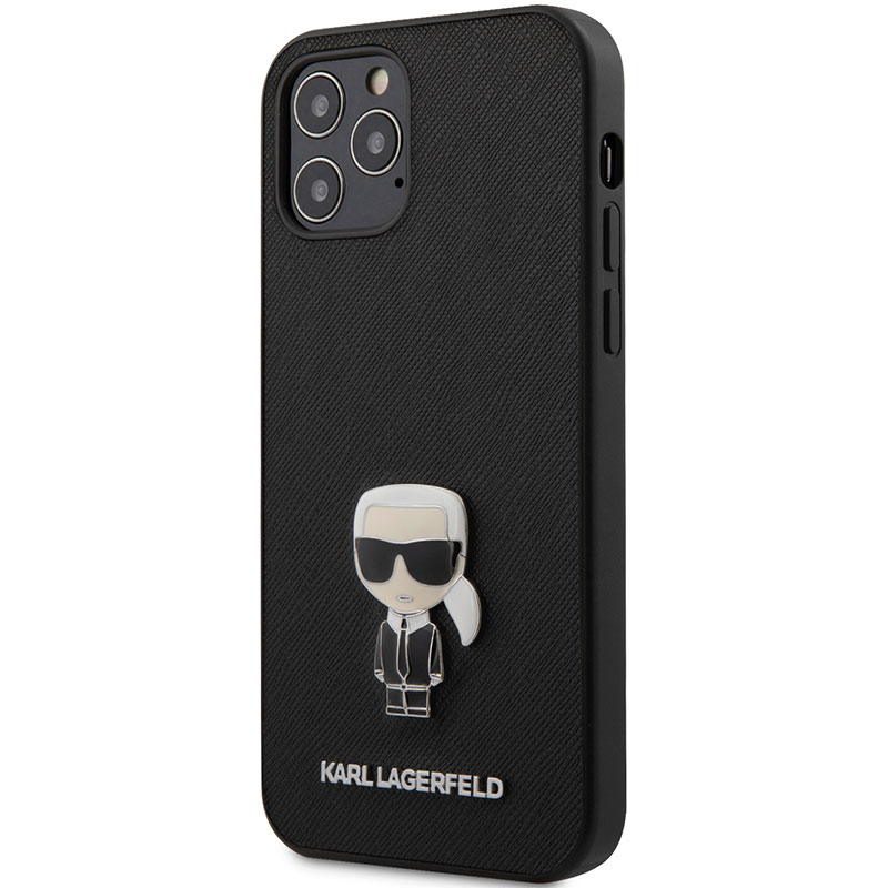 Karl Lagerfeld Saffiano Iconic Black iPhone 12/12 Pro Tok
