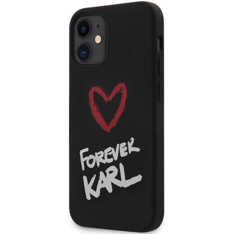Karl Lagerfeld Silicone Forever Black iPhone 12 Mini Tok