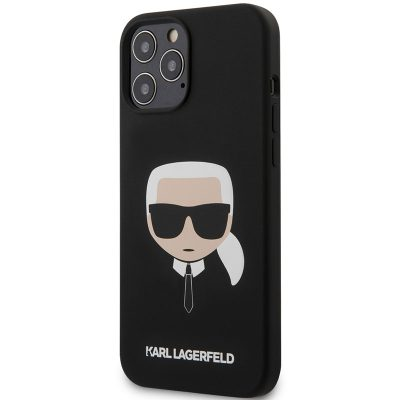 Karl Lagerfeld Silicone Head Black iPhone 12/12 Pro Tok