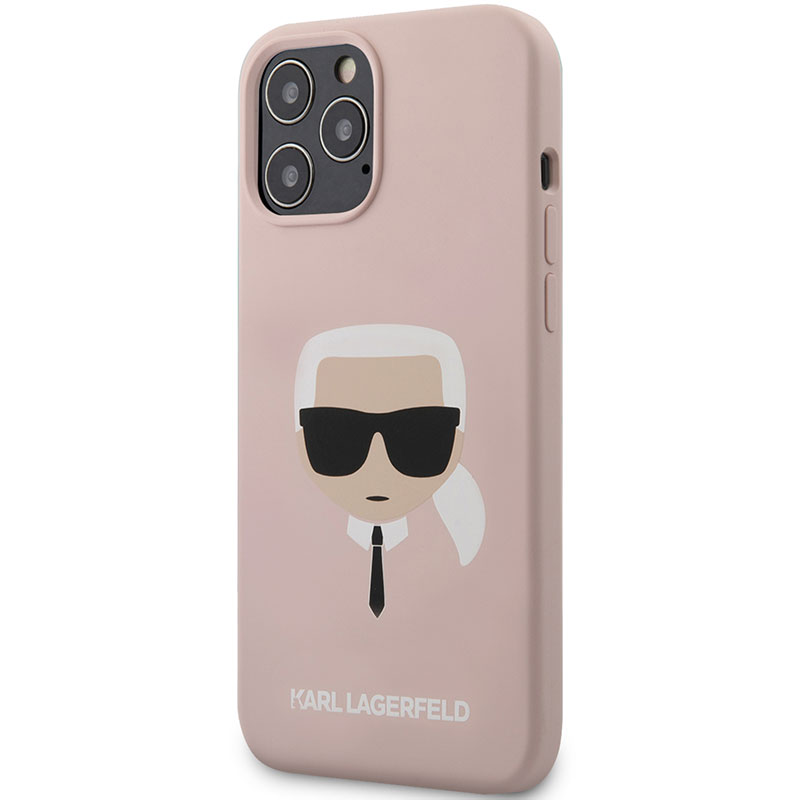 Karl Lagerfeld Silicone Head Light Pink iPhone 12/12 Pro Tok